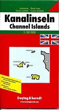 Map of the English Channel Islands, Guernsey & Jersey, by Freytag & Berndt