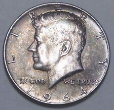 "1964  Kennedy SILVER Half Dollar  ""Toned""  Brilliant Uncirculated Philadelphia"