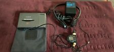 Sony MiniDisc Walkman Player Model MZ-E3, headphones, AC wall charger, OEM pouch