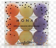 1 Pack - Set of 9 MONAT Dream Bigger Sleep In Rollers Soft Foam Sponge NEW