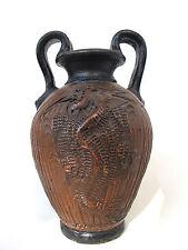 Ältere Terracotta Henkel Vase Philippinen Handarbeit