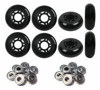 Inline Wheels Outdoor Black/Grey 64mm 82a Set of 8 Abec 9