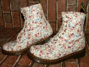 Dr. Martens AirWair 1460 floral meadow leather boots uk 6 eu 39 us 8 Doc#148