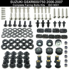 For Suzuki GSXR600 GSXR750 2006-2007 Complete Fairing Bolts Bodywork Screws Kit