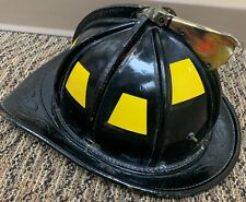 cairns n6a leather New Yorker fire-helmet 1988 size M w/ impact cap & Chin Atrap