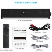 3D Barre de Son TV Soundbar Bluetooth 5.0 FOXNOVO TV Haut-Parleur Stéréo Speaker
