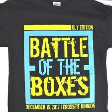 Crossfit Battle of the Boxes Kinnick Oly S T-shirt Small Mens Competitor 2012