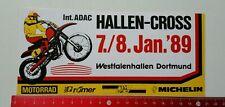 Aufkleber/Sticker: ADAC Hallen Cross 1989 - Michelin - Dortmund (150316181)