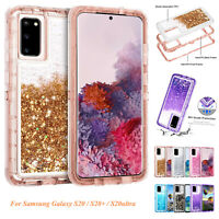 For Samsung Galaxy S20 Plus S20+ S20 Ultra Defender Glitter Liquid Case Cover