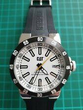 "CATERPILLAR ""CAT"" QUARTZ WATCH - BLACK & WHITE - DATE - BOXED - COLLECTORS' ITEM"