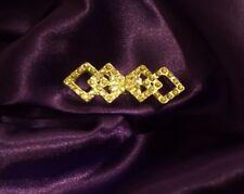 Women's Fancy Opera Cloak Closure BLING Rhinestones Silver Bridal Cape Clasp