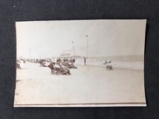 Vintage BW Real Photo #BQ: Yarmouth Beach: Deckchairs Sailboats 1 Of 2