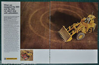 1969 CATERPILLAR 920 930 loader 2-page advertisement, overhead photo