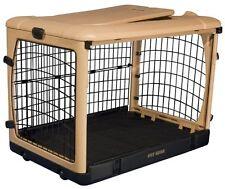 """Pet Gear The Other Door Steel Crate 27""""-Tan/Black New"""