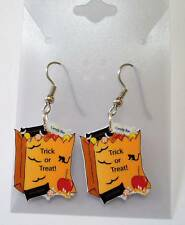 Halloween Bag Earrings Trick or Treat Candy Charms