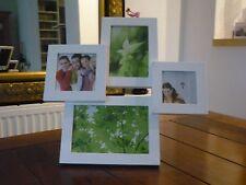 4er Fotorahmen 30x30cm Weiß Hochglanz Bilderrahmen Foto Rahmen Stand modern