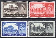 SG595a-598a 1963 Castle Set UNMOUNTED MINT