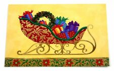 Set of 19 Christmas Cards & Envelopes by American Greetings Holiday Sleigh Desig