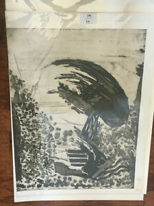 Yehezkel Streichman A TREE IN JERUSALEM aquatint signed in pencil numbered 12/20