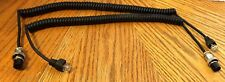 2 NEW Astatic EchoMax 2000 Coiled Microphone Cords - PRE-WIRED 4,5,6 Pin