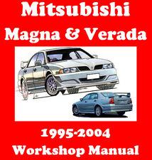 MITSUBISHI MAGNA VERADA RALLIART 1995 - 2004 WORKSHOP MANUAL  DIGITAL DOWNLOAD