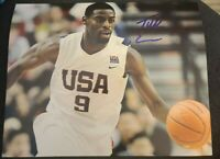 TYREKE EVANS SIGNED 8X10 PHOTO USA TEAM NBA PACERS KINGS C W/COA+PROOF RARE WOW