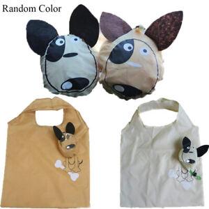 Foldable Reusable Shopping Bag Eco Animal Tote Handbag Fold Away Ladies Clip NEW