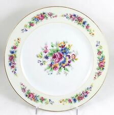 SET(S) 6 DINNER PLATES ANTIQUE AHRENFELDT LIMOGES FRENCH CHINA GOLD WHITE FLORAL