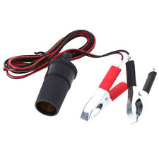 1.5M Car Battery Terminal Clip-on Cigarette Lighter Socket Power Adapter US
