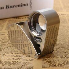 Juwelier Lupe 40 Fach Schmuck Vergrösserungslupe mit LED Licht für 40 x 25mm NEU