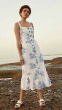 Primark Toile De Jouy Tiger Print Palm Midi Dress Size 8 EUR 36 Blogger BNWT