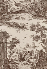 Schumacher Williamsburg Wallpaper   Jones Toile  in Sepia  Dbl Roll   $580 Value
