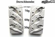 Bleigussform Dorschbombe 45 60 70 g mit Augen VMC 6/0 Jig Köpfe giessen Zander