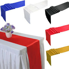 """12 """"x 108"""" Satin Tischdecken Tabellen Läufer Hochzeitsfest Party Dekor 4 Farbe~~"""