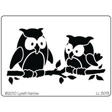 Dreamweaver Owl Pair Stainless Steel Stencil LL3013