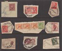 Queensland selection of pre-decimal postmarks on piece