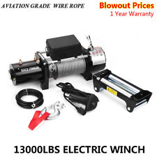 Classic 13000lbs 12V Electric Recovery Winch Truck SUV Durable Remote Control