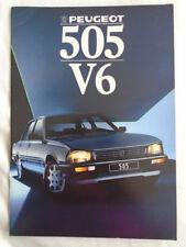Peugeot 505 V6 range brochure 1988 French text