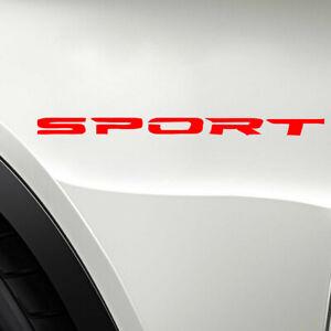 4pcs SPORT Logo Car Decal Sticker Rims Racing Sticker Door Rims Wheels Hub