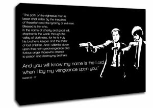 Movie Quote Pulp Fiction The Path Of The Righteous Man Text Quotes 09901 Canvas