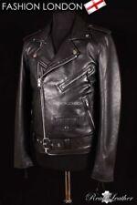 Manteaux et vestes noirs en cuir, taille S pour homme