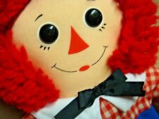 """Vintage 12"""" Raggedy Andy - Hasbro Softies - Johnny Gruelle - Made in Hong Kong"""