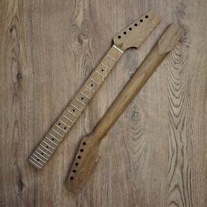 Telecaster Guitar Neck Roasted Maple Tele Unfinished Paddle Headstock 22 Fret
