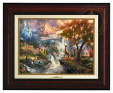 Thomas Kinkade - Disney's Bambi Canvas Classic (Burl Frame)