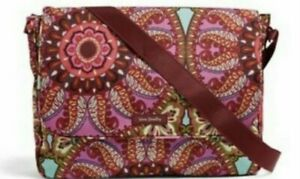 NEW Vera Bradley Lighten Up Essential Messenger Bag Resort Medallion Pattern NWT