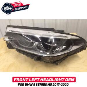 Front Left Headlight Lamp For BMW 5 Series G30 M5 F90 2017-2020 OEM Full Led