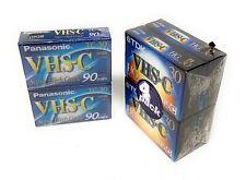 Panasonic & Tdk Lot Of 6 Super High Grade Tc-30 Vhs-C Blank Tapes - 90 Min.
