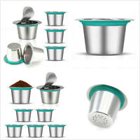 1/3/5PCS Stainless Steel Reusable Refillable Coffee Capsule Pod For Nespresso
