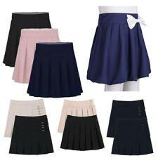 Pretty Fashion Kids Skater Skirt Girls Flared Flowy High Waisted Dance Childrens School Skirt Ages 5-13
