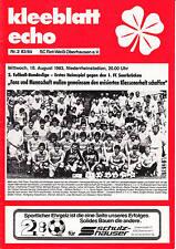 II BL 83/84 Rot-Weiß Oberhstampaen - 1. FC Saarbrücken, 10.08.1983